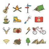 Het pictograminzameling van de schetskrabbel royalty-vrije stock fotografie