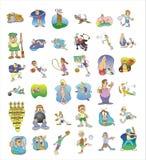 Het pictograminzameling van het beeldverhaal #02 Royalty-vrije Stock Foto