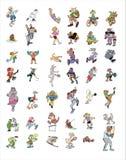 Het pictograminzameling van het beeldverhaal #03 Stock Foto's