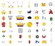 Het pictograminzameling van het beeldverhaal #05 Stock Afbeeldingen