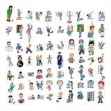 Het pictograminzameling van het beeldverhaal #08 Stock Foto's