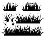 Het pictograminzameling van het gras Vectorontwerp Stock Foto's