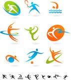 Het pictograminzameling van sporten - 5 Stock Fotografie