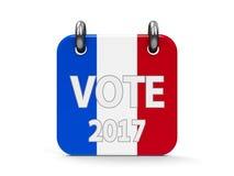 Het pictogramkalender van de stemverkiezing 2017 Stock Illustratie