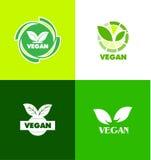 Het pictogramkenteken van het veganistembleem Stock Afbeelding