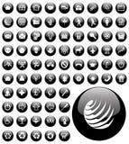 Het pictogramknopen van de computer Stock Afbeeldingen