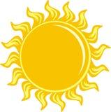 Het pictogramlicht van de zon Stock Afbeeldingen