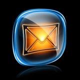 Het pictogramneon van de envelop. Stock Illustratie