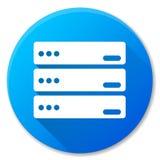 Het pictogramontwerp van de server blauw cirkel Stock Afbeeldingen