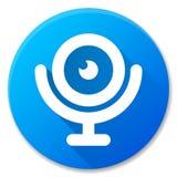 Het pictogramontwerp van de Webcam blauw cirkel Stock Foto