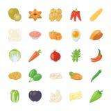 Het Pictogrampak van voedselingrediënten Stock Foto's