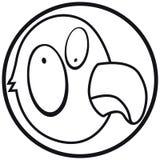 Het pictogrampapegaai b&w van huisdieren Stock Foto's