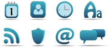 Het pictogramreeks 6 van het Web | De reeks van Aqua Royalty-vrije Stock Afbeeldingen