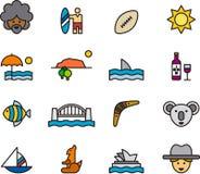Het pictogramreeks van Australië Royalty-vrije Stock Afbeelding