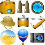 Het pictogramreeks van avonturen Stock Fotografie