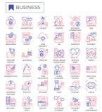 Het pictogramreeks van het bedrijfsstrategieoverzicht vector illustratie