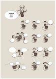 Het pictogramreeks van bureaumensen Stock Afbeeldingen