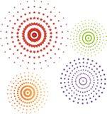 Het pictogramreeks van cirkels Stock Foto's
