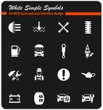 Het Pictogramreeks van de autodienst royalty-vrije stock foto's