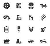 Het Pictogramreeks van de autodienst Stock Afbeelding