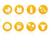 Het pictogramreeks van de baby vector illustratie