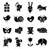 Het pictogramreeks van de baby Stock Afbeelding