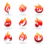 Het pictogramreeks van de brand Royalty-vrije Stock Foto's