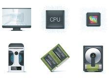 Het pictogramreeks van de computer. Deel 1 Stock Afbeeldingen
