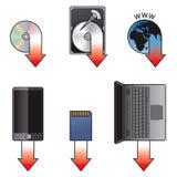 Het pictogramreeks van de download Stock Afbeelding