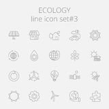 Het pictogramreeks van de ecologie stock illustratie