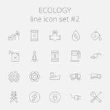 Het pictogramreeks van de ecologie royalty-vrije illustratie
