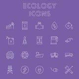 Het pictogramreeks van de ecologie Stock Foto's