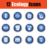 Het pictogramreeks van de ecologie Stock Foto