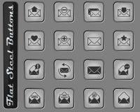 Het pictogramreeks van de envelop stock illustratie