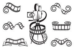 Het pictogramreeks van de film Stock Afbeelding