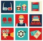 Het pictogramreeks van de film Royalty-vrije Stock Foto