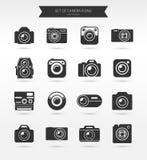 Het pictogramreeks van de fotocamera Stock Afbeelding