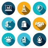 Het pictogramreeks van de gashandel Stock Fotografie