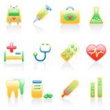 Het pictogramreeks van de geneeskunde. Vector Illustratie