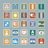 Het pictogramreeks van de geneeskunde royalty-vrije stock foto
