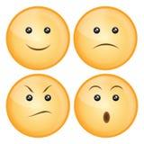 Het pictogramreeks van de glimlach Stock Afbeelding