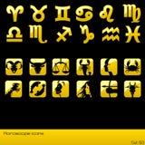 Het pictogramreeks van de horoscoop. Royalty-vrije Stock Fotografie