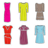 Het pictogramreeks van de kleding Vector Illustratie