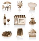 Het pictogramreeks van de koffie. Stock Illustratie