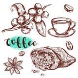 Het Pictogramreeks van de koffietak Royalty-vrije Stock Foto