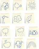 Het pictogramreeks van de lente royalty-vrije illustratie