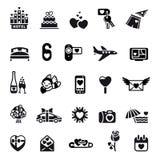 Het pictogramreeks van de liefde Stock Afbeeldingen