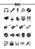 Het pictogramreeks van de muziek Stock Afbeelding