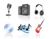 Het pictogramreeks van de muziek Stock Fotografie