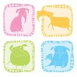 Het pictogramreeks van de olifant Stock Fotografie